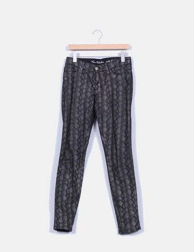 Pantalon animal print texturizado