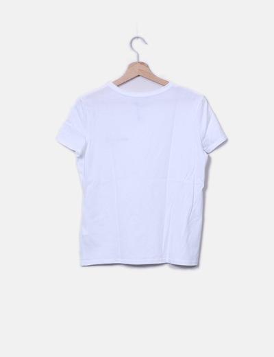 38dc32dd9 Zara Camiseta blanca lisa (descuento 71%) - Micolet