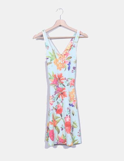 Vestido de alças floral multicor Pull&Bear