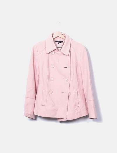 Chaquetón paño rosa