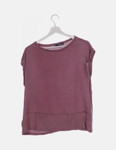 Camiseta combinada rosa