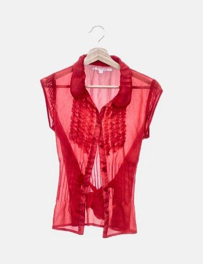 Camisa roja de gasa