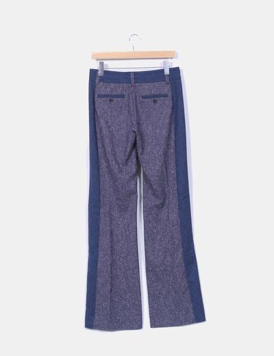 Pantalon azul jaspeado