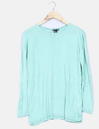 Jersey fino verde mint cuello redondo H&M