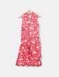 Vestido rojo y blanco de lunares Zara
