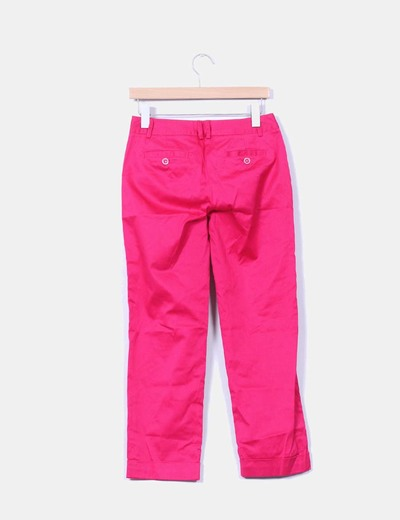 Pantalon fucsia tobillero