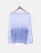 Cardigan tricot azul y blanco Mónica Lendinez