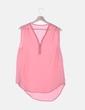 Blusa gasa rosa con cremallera NoName