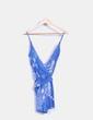 Corps à bretelles bleu imprimé floral Oysho