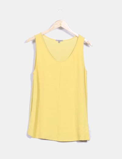 Blusa amarilla mangas sisa Uterqüe