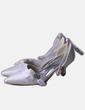 Zapato de punta blanco satinado NoName