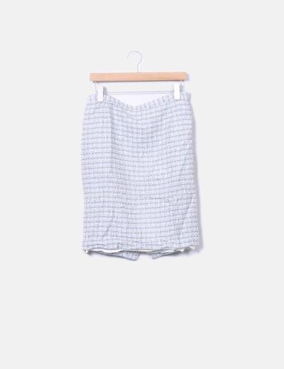 Conjunto de falda y blazer combinada