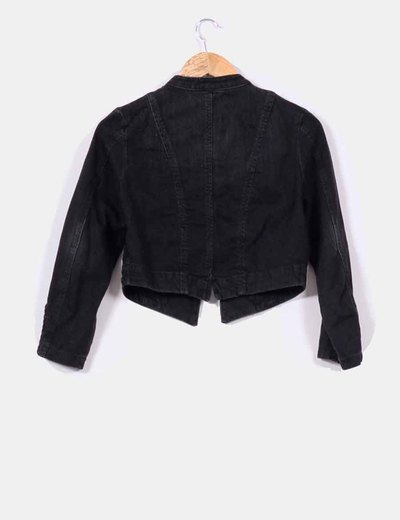 H M Black Denim Jacket Mao Collar Discount 61 Micolet