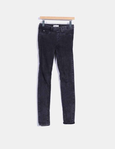 Jegging denim negro Pull&Bear