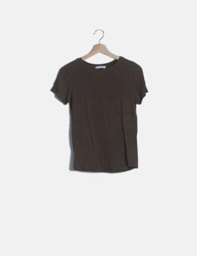 Camiseta manga corta taupé