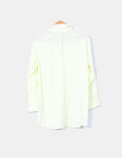 Camisa amarilla manga larga