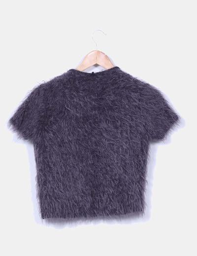 Chanelita gris marengo con pelo