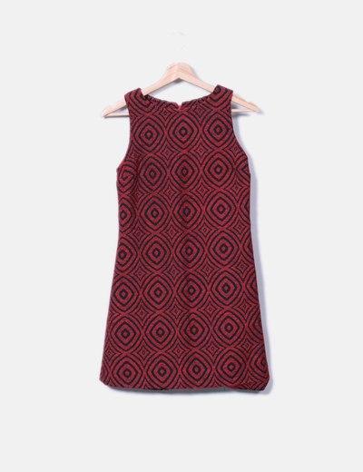Vestido de punto rojo estampado Desigual