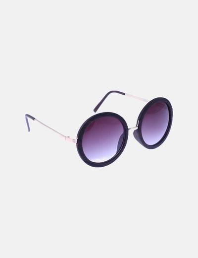 Gafas de sol montura marrón cristal redondo