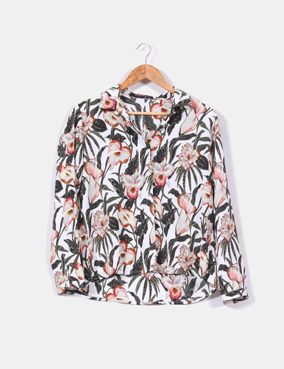 Camisa estampado tropical