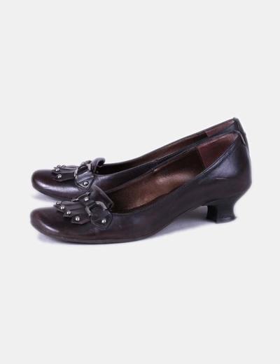 Zapato Y Con Marrón Jhay descuento Tachas Micolet 86 Flecos fxPBdqn