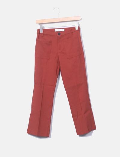 Pantalon rouge à poches de Mango