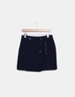 Mini falda azul con cierres metálicos Sfera