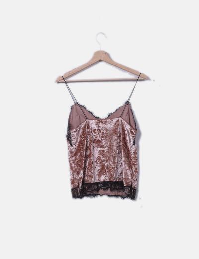Bershka Camisa de lingerie rosa (desconto de 71%) - Micolet cfd02cfd409