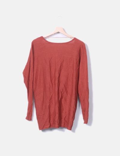 Suéter tricot teja cruzado