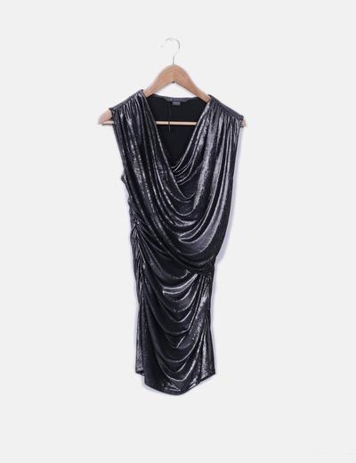 Armani Exchange Vestido de glitter assimétrico (desconto de 76 ... 23dfc85cb0825