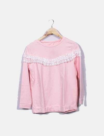 Sudadera rosa combinada NoName