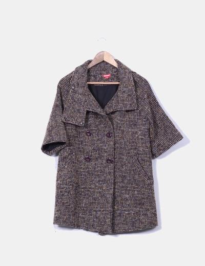 Abrigo marrón texturizado  Juan Blanco