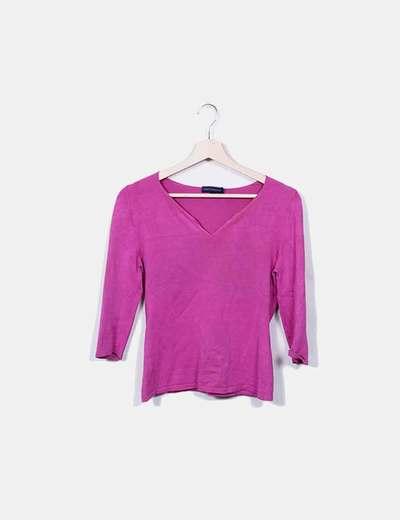 Camiseta de punto rosa Adolfo Dominguez