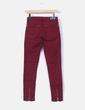 Pantalón granate texturizado Zara