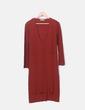 Vestido tricot teja con aberturas Zara