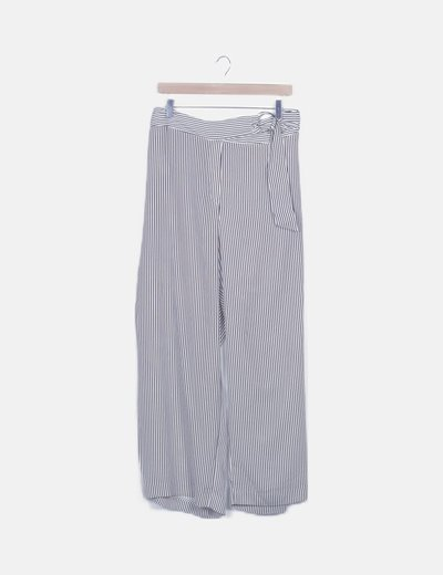 Pantalón fluido de rayas