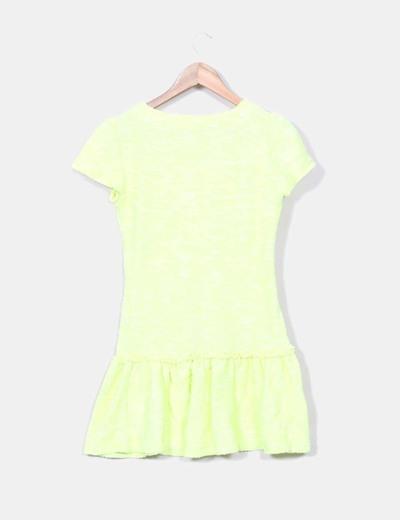 Vestido tricot amarillo fluor