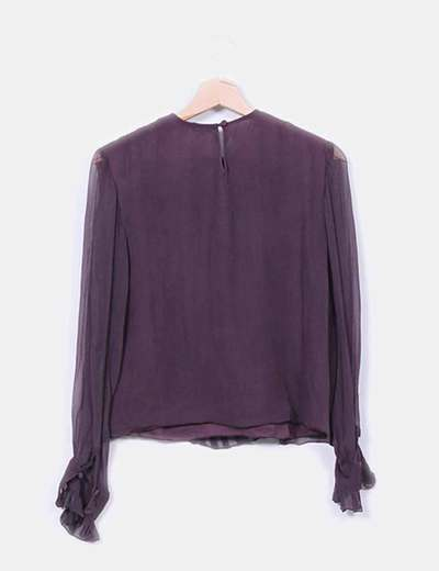 Blusa color berenjena
