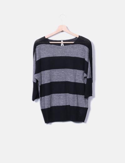 Suéter de punto a rayas NoName