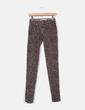 Pantalón pitillo gris print animal  Zara