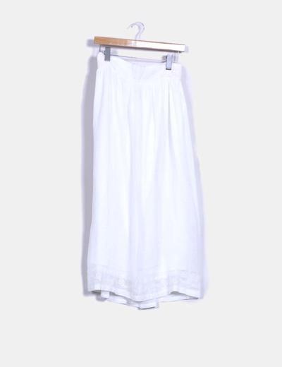 Zara Falda larga blanca con bordados (descuento 72%) - Micolet 0e9c50a3020