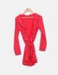 Robe rouge imprimé étoile Yashangyi