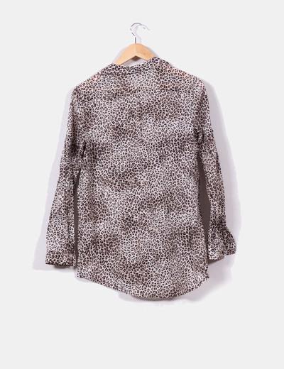 Blusa larga print leopardo