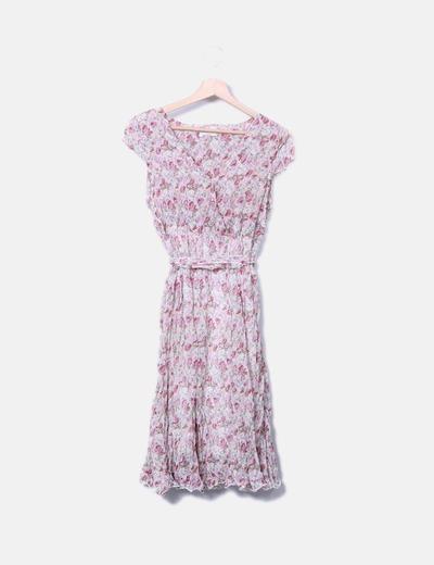 Vestido fluido de gasa floral Anamar