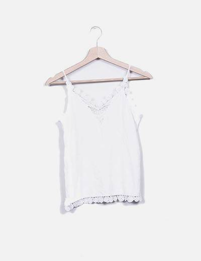 Top tirantes blanco H&M