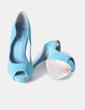 Zapatos peep toe turquesa Bershka