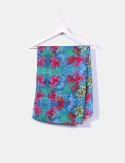 Foulard estampado tropical NoName