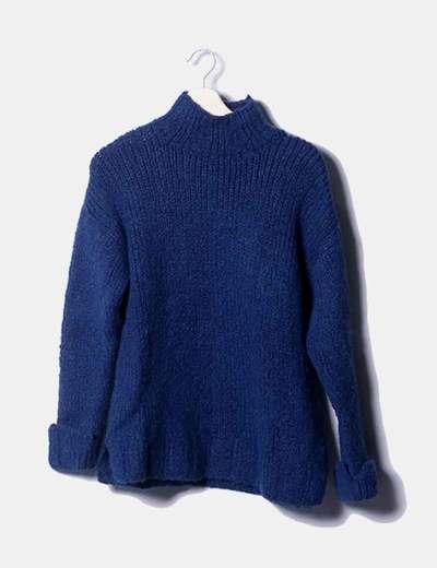 Jersey de punto grueso azul