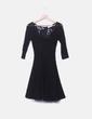 Vestido negro encaje Blugirl