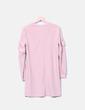 Vestido midi rosa manga larga Bershka